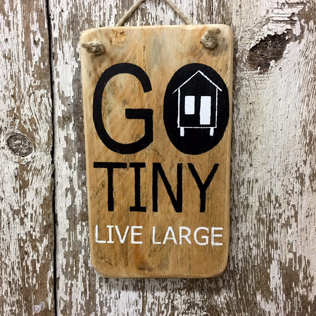 Tiny House Decor Gift Ideas Go Tiny Live Large Tiny Home Sign