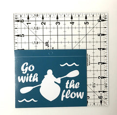 Kayaking Vinyl Decal - Window Sticker
