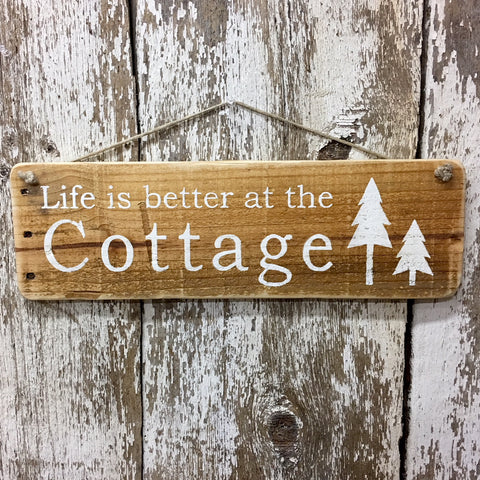 cottage signs life is better at the cottage wooden sign decor gift