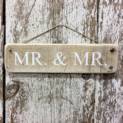 wedding sign mr and mr hand painted wood gay wedding