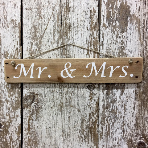 wedding sign mr and mrs reclaimed wood sign hand painted