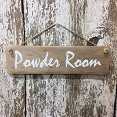restroom sign bathroom sign powder room reclaimed wood sign