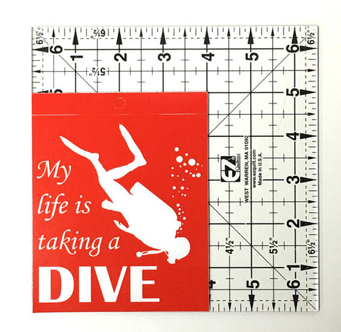 SCUBA Diving Vinyl Decal - Window Sticker