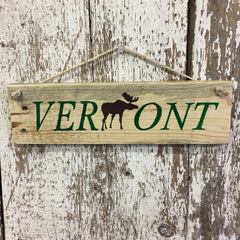 vermont signs with moose reclaimed wood sign handpainted gift