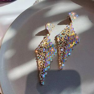 Ab rhinestone waterfall earrings