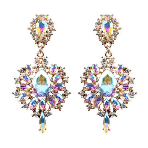 AB Rhinestone drop earrings
