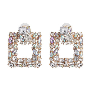 Ab luxe square earrings