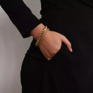 2pc gold rope chain bracelets