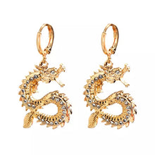 Dragon rhinestone pendant earrings