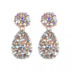 Ab rhinestone droplet earrings