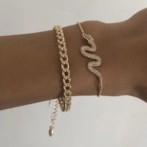 Rhinestone snake chain bracelets - pre order 7-10 days dispatch