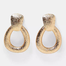 Large gold diva earrings