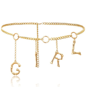 Gold girl waist chain