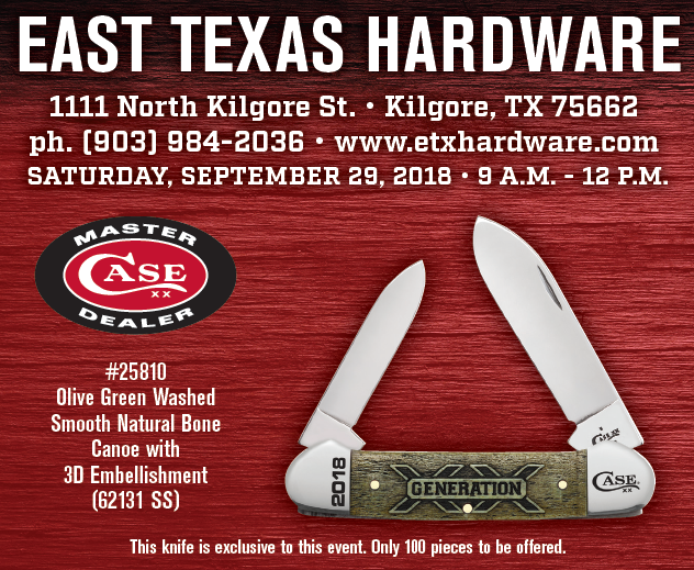"W.R. Case & Sons ""GENERATION XX"" Tour coming to East Texas Hardware"