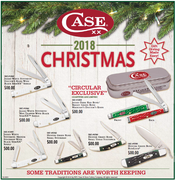 Check your local paper for the Case Christmas Shopping Insert!
