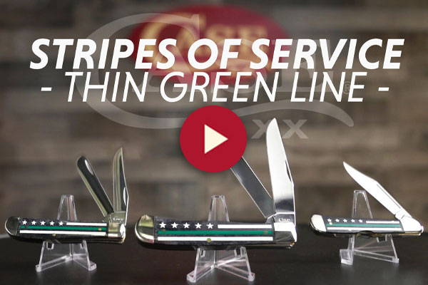 Stripes Of Service™ Green Line Knives