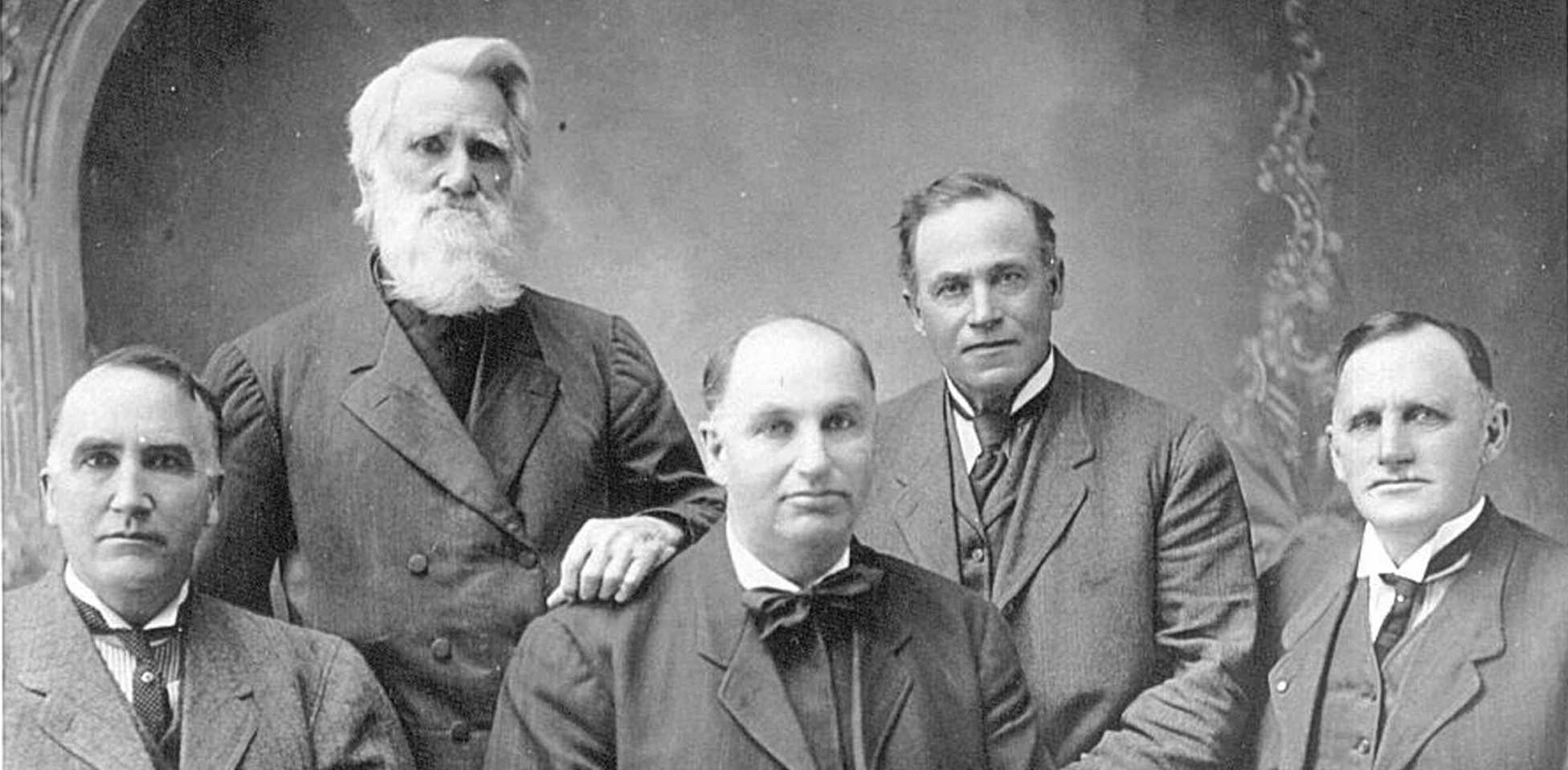 Historical photo of the Case founding members