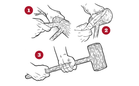 Making a wooden mallet illustrated instructions