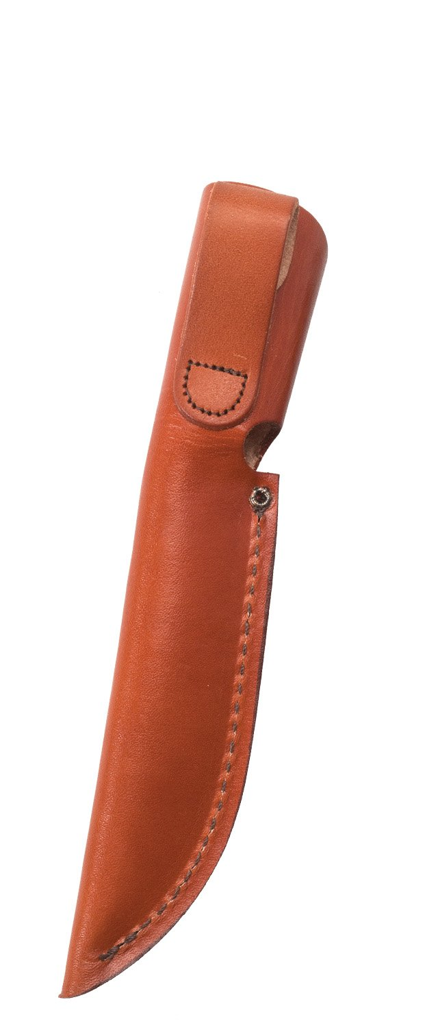 "Leather 5"" Utility Hunter with Leather Sheath"