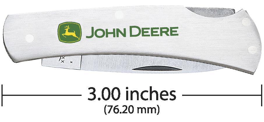John Deere Embellished Stainless Executive Lockback