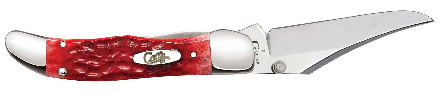Kickstart® Dark Red Bone Standard Jig Chrome Vanadium Mid-Folding Hunter