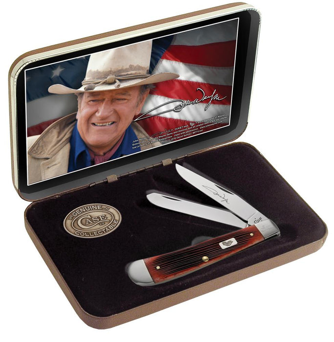 John Wayne Gift Set - Barnboard Jig Dark Red Bone Trapper