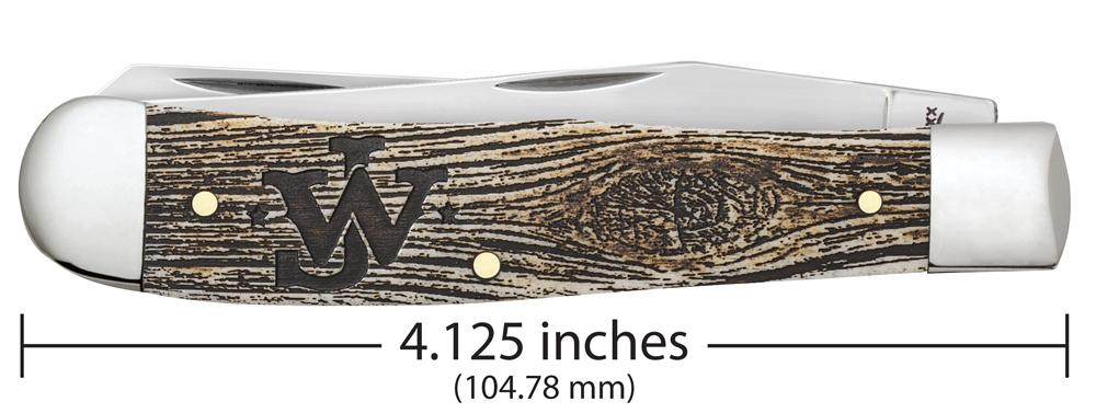 John Wayne Smooth Natural Bone with Amber Color Wash Trapper