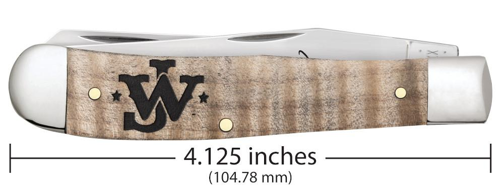 John Wayne Smooth Natural Curly Maple Wood Trapper