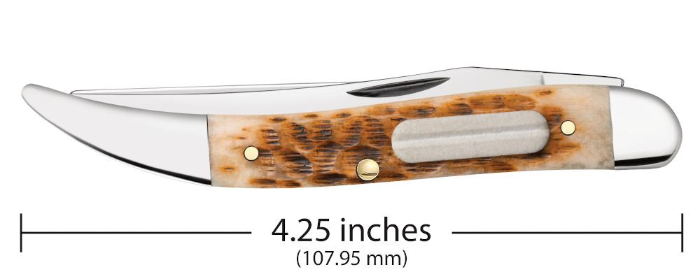 Amber Bone Peach Seed Jig Fishing Knife