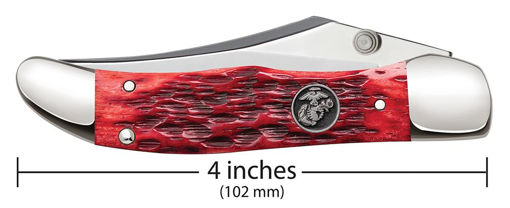 USMC® Kickstart® Peach Seed Jig Dark Red Bone Mid-Folding Hunter
