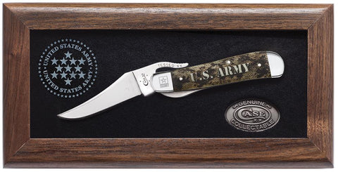 U.S. Army Commemorative Embellished Smooth Natural Bone with Green and Tan Color Wash RussLock®