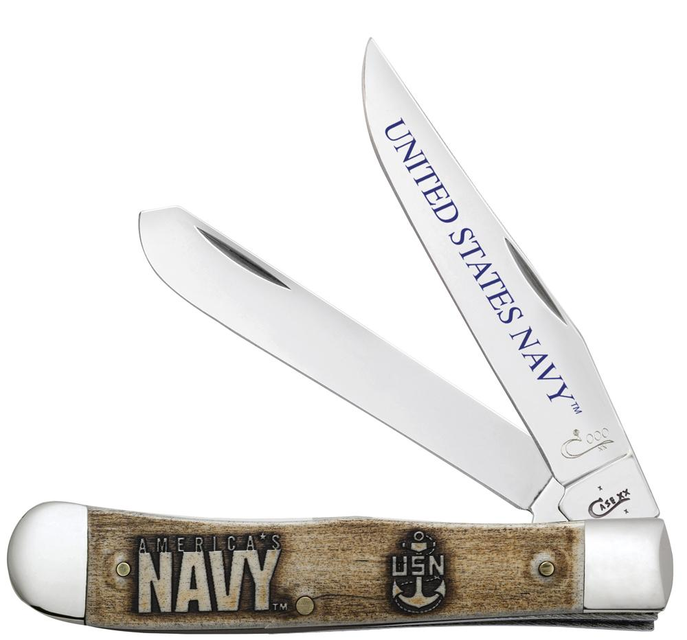 U.S. Navy Gift Set Embellished Smooth Natural Bone Trapper