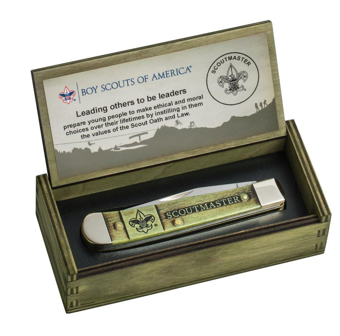 Boy Scouts of America Scoutmaster Trapper in wooden gift set box
