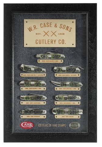 Tang Stamp Series Olive Green Bone Mint Set in wooden display box