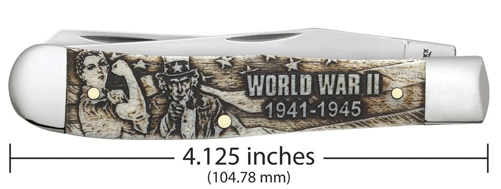 War Series Embellished Smooth Natural Bone Trapper WWII