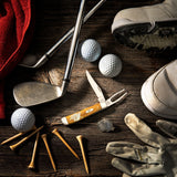 Golfer's Tool Gift Set Embellished Smooth Antique Bone