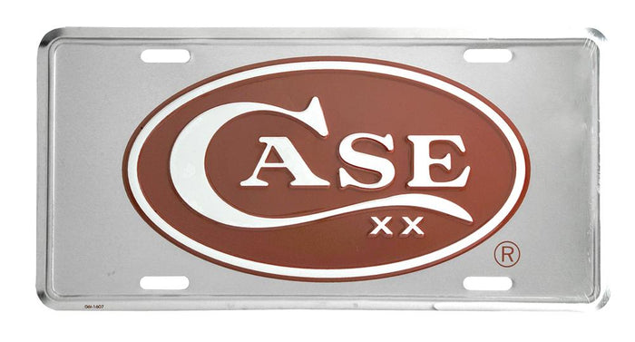 License Plate - Case Oval Logo