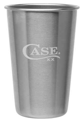 Front view of the Stainless Steel Pint Glass