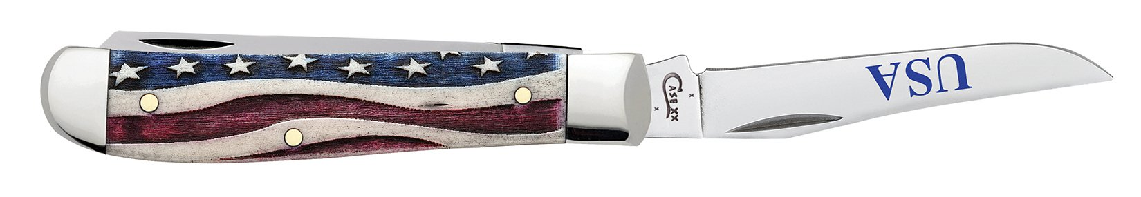 Star Spangled Embellished Smooth Natural Bone Mini Trapper