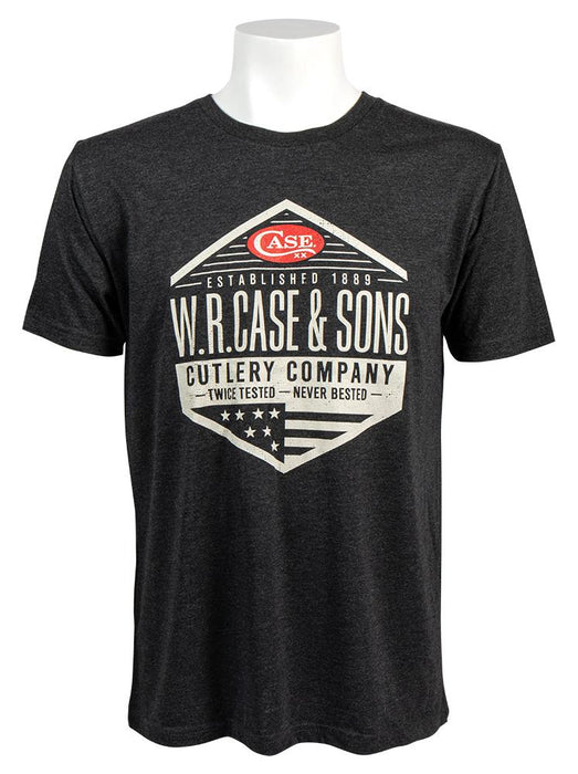 Front view of the W.R. Case & Sons Black T-shirt