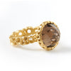Honeycomb Round Stone Ring