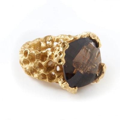 Smeidi Honeycomb Square Stone Ring | Heidi & Co. | 3 Labels 1 Mission