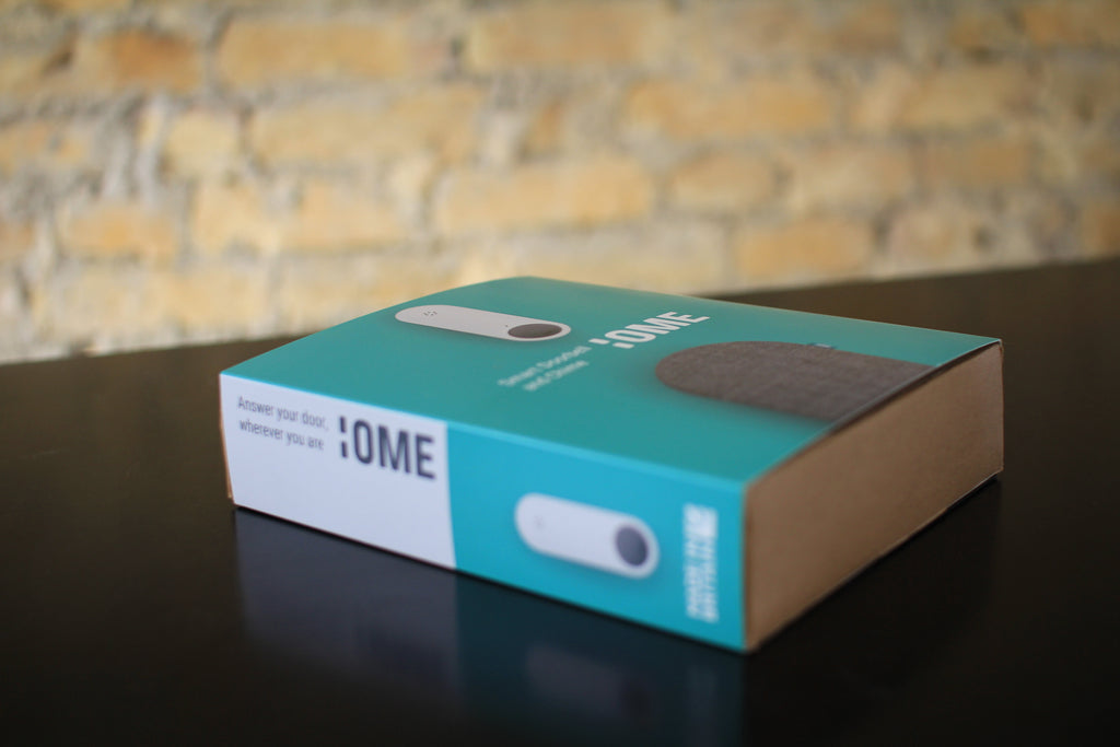 Ome Smart Doorbell and Chime Set in the New Ome Smart Doorbell Branding!