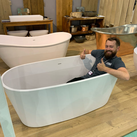 Ome Smart Doorbell CEO John Nussey Loves This Minimal Bath at Grand Designs Live