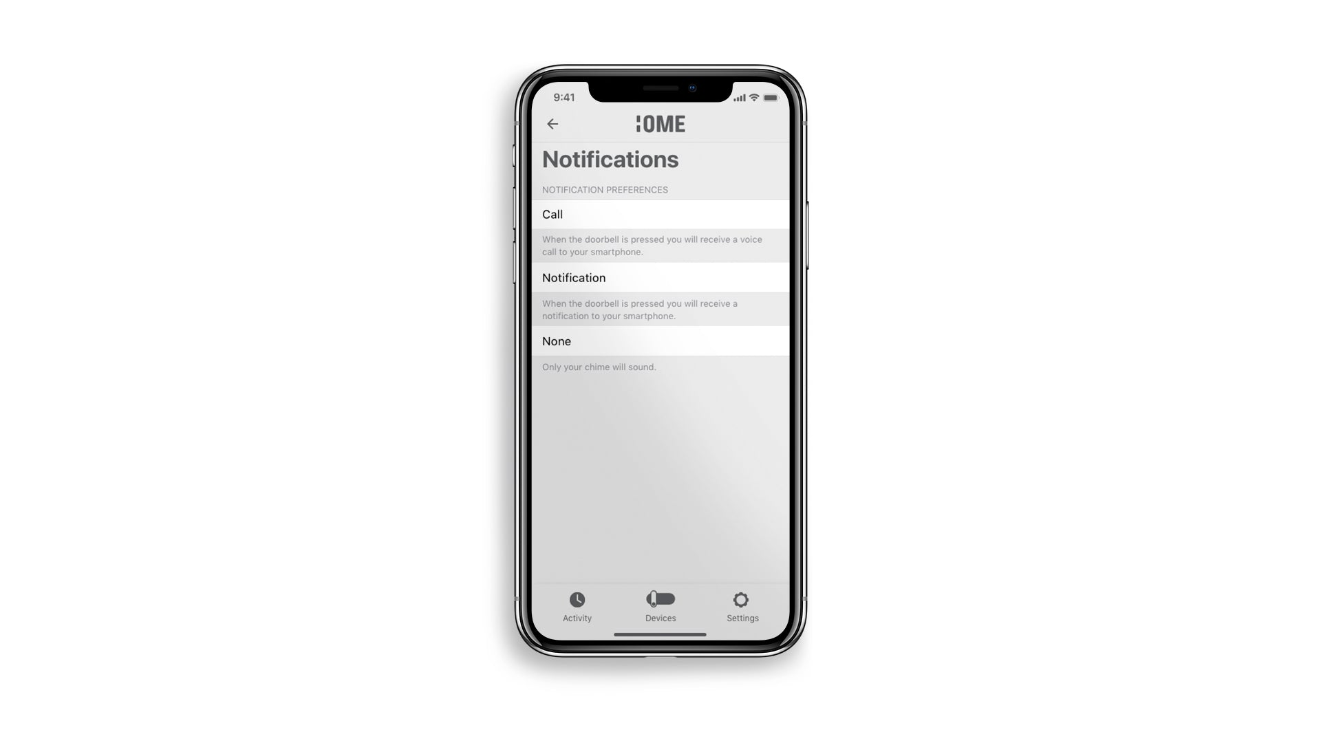 Ome Smart Doorbell Notifications