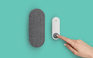 Ome Smart Doorbell in Charcoal with Ome Smart Doorbell Fabric Covered Chime