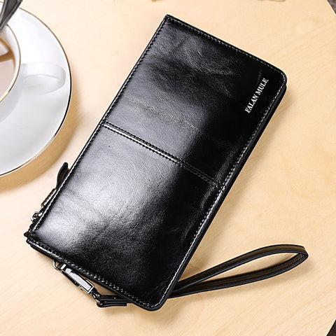 Wax Leather Smartphone Wallet Case