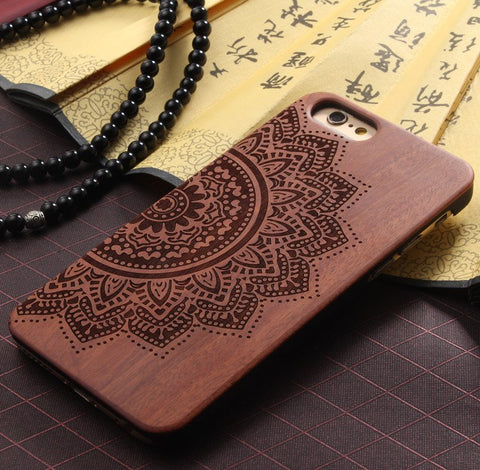 Wood Mandala iPhone Case