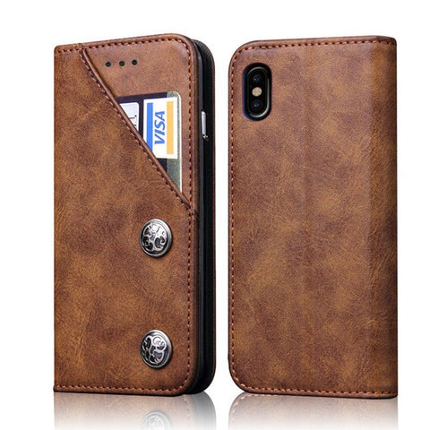 Studded iPhone X Wallet Case