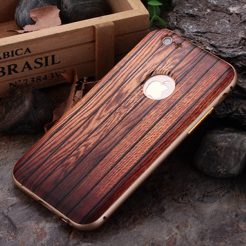 Carbonized Wood iPhone Bumper Case